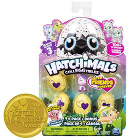Hatchimals CollEGGtibles Season 3 - 4 Pack + Bonus (Styles & Colors May Vary)