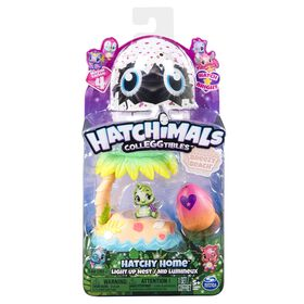 Hatchimals CollEGGtibles, Breezy Beach Hatchy Home Lightup Nest with Exclusive Season 4 Hatchimals CollEGGtible