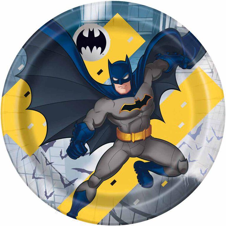 """Batman  9""""  Plates, 8 pieces"""