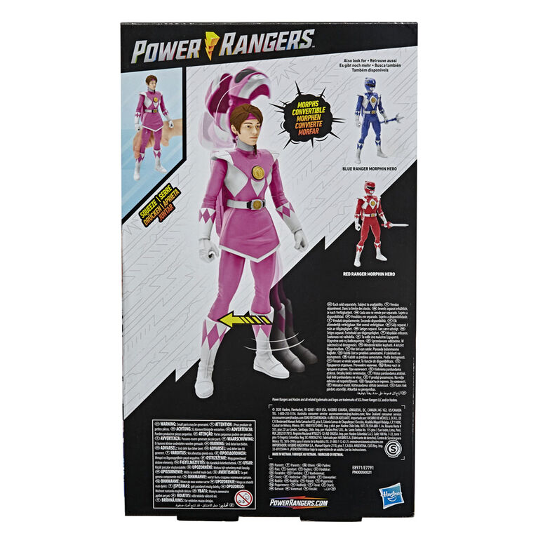 Power Rangers Mighty Morphin - Pink Ranger Morphin Hero 12-inch Action Figure Toy with Accessory