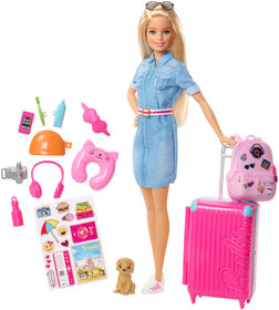 Barbie Travel Doll & Accessories Set