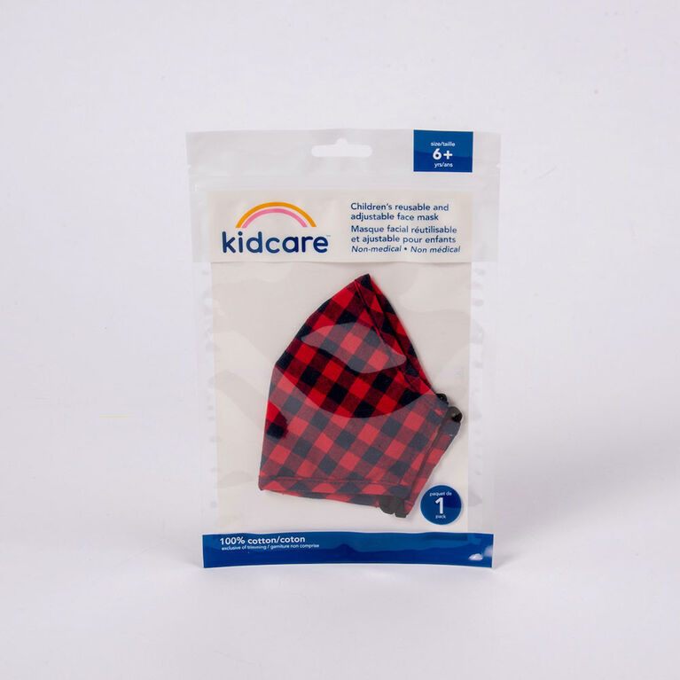 kidcare - Cloth Face Mask Youth 1-pack - Buffalo Plaid