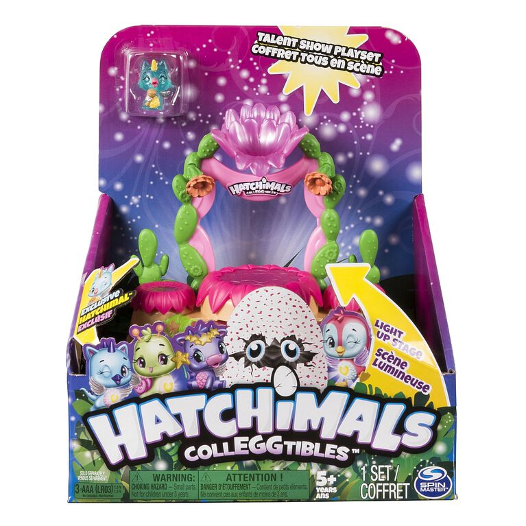 Hatchimals CollEGGtibles - Talent Show Light-up Playset with an Exclusive Season 4 Hatchimals CollEGGtible