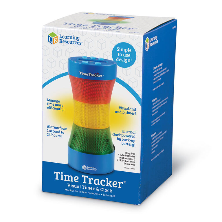 Learning Resources - Horloge et minuteur visuel Time Tracker