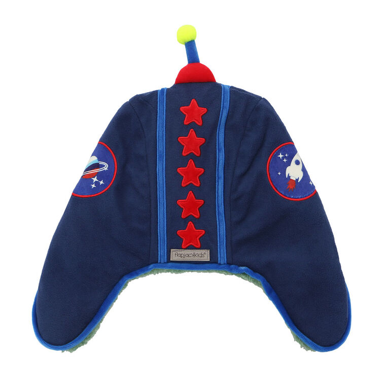 FlapJackKids - Bébé, enfant en bas âge, enfants, garçons - chapeau de trappeur hydrofuge - doublure Sherpa - Dino / astronaute - grand 4-6 ans