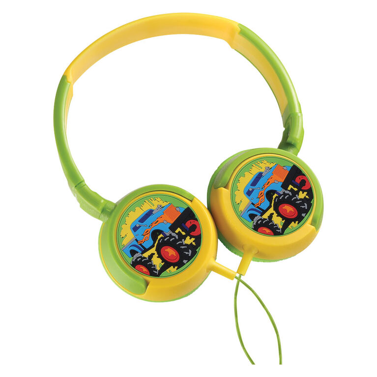 Volkano - Kids Swivel Headphones - Boys Monster Truck