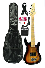 Guitare électrique Viper Jr de Bridgecraft en érable avec ampli et accessoires - Explosion de tabac