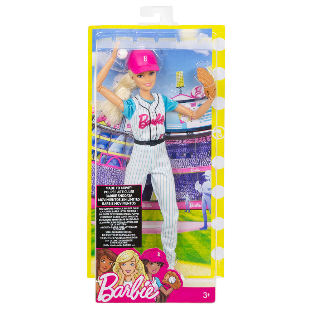 Dolls Barbie Made To Move Baseball Player