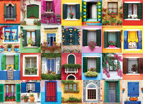Eurographics Mediterranean Windows 1000 Puzzle Piece