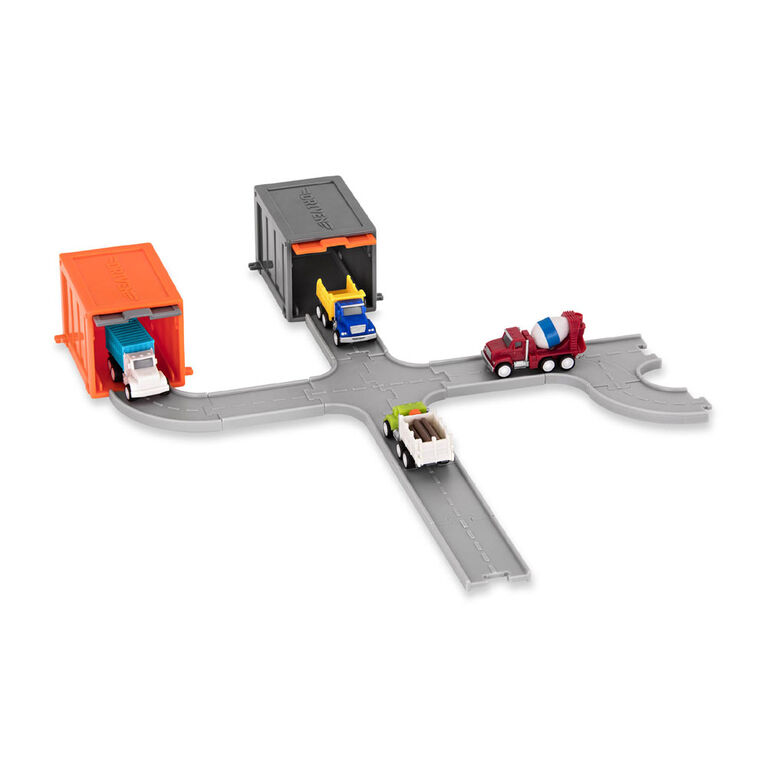 Driven, Pocket Series, Track Playset with Toy Truck