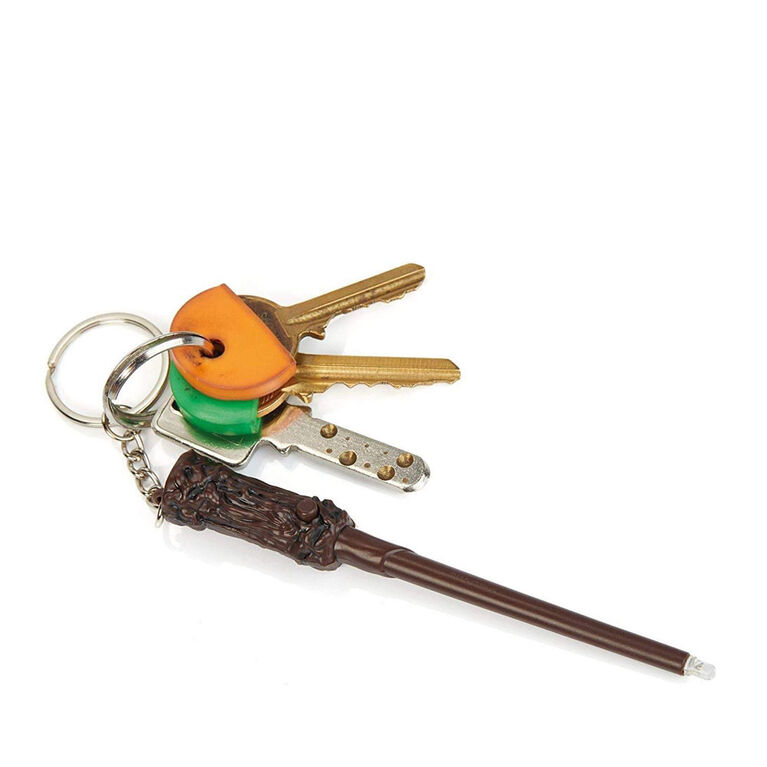 Baguette lumineuse Lumos avec porte-clés Harry Potter