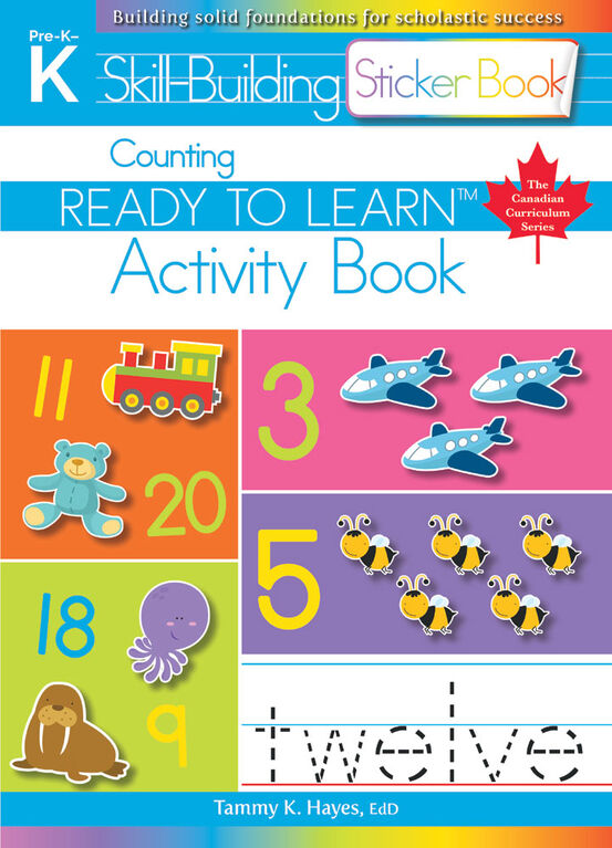 Counting Sticker Book - English Edition