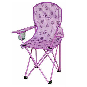 Sizzlin' Cool Purple Butterflies Junior Printed Fabric Chair