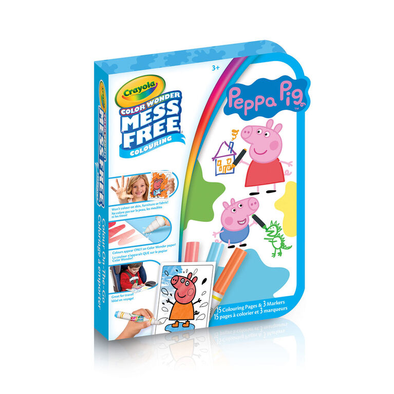 Coloriage à emporter Color Wonder, Peppa Pig