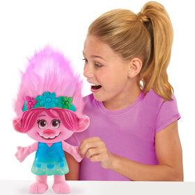 DreamWorks Trolls World Tour Color Poppin' Poppy Sounds Effects Plush - French Edition