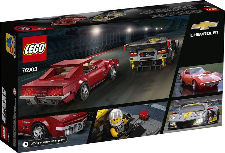 LEGO Speed Champions Voiture de course Chevrolet Corvette C8.R et Chevrolet Corvette 1968 76903