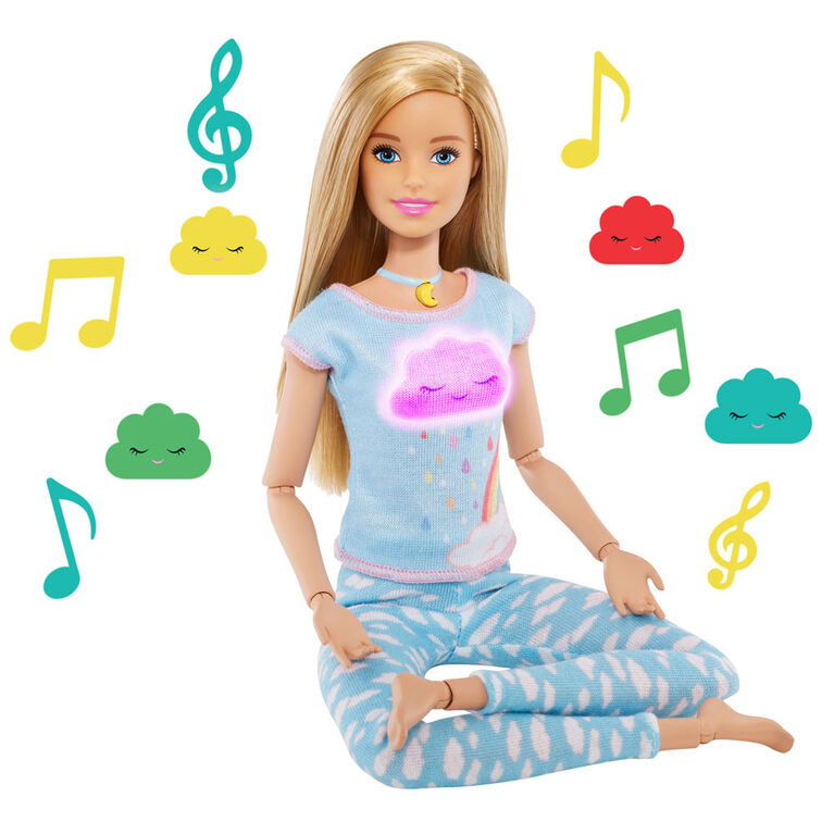 Breathe with Me Barbie Meditation Doll, Blonde, with Lights & Guided Meditation - English Edition