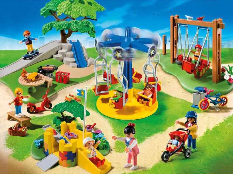 Playmobil - Parc de jeux pour enfants (5024) - Notre exclusivité