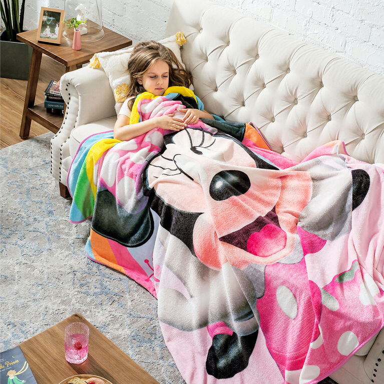 Disney Minnie Mouse Fleece Throw Blanket, 50 x 60 inches