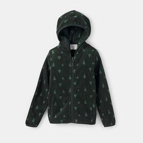microfleece hooded zip-up jacket , size 2-3y - Green