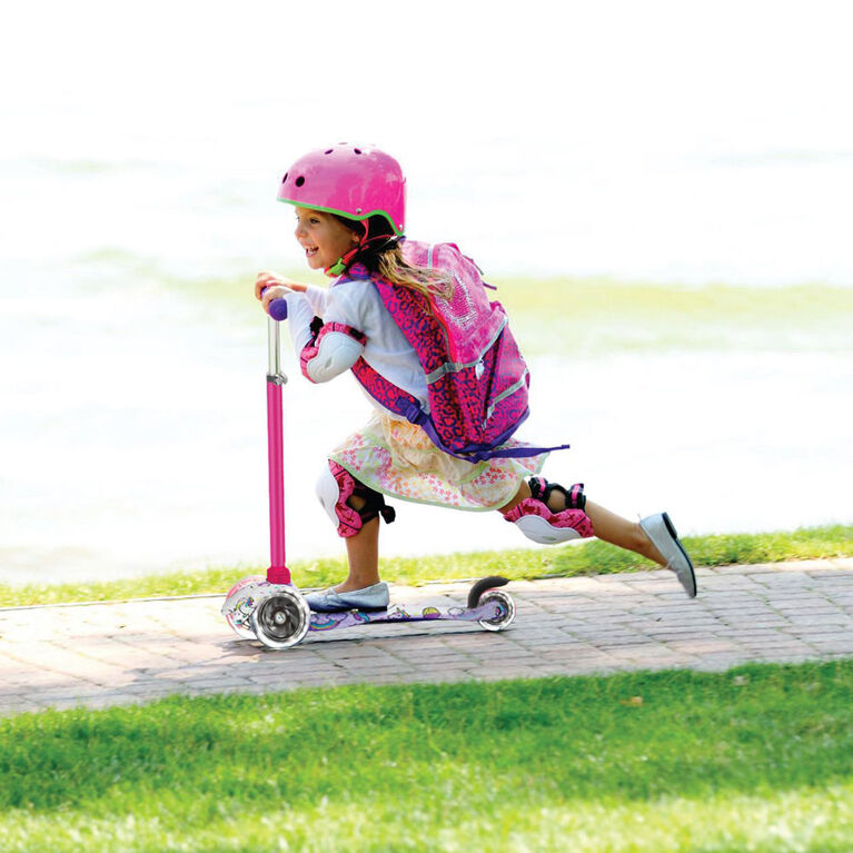 trotinette de course robuste pour enfants avec impression de licorne