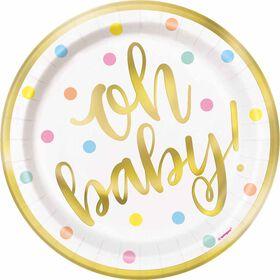 """""""Oh Baby"""" Assiettes 7po, 8un - Édition anglaise"""