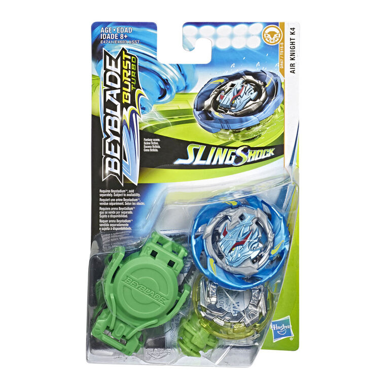 Beyblade Burst Turbo Slingshock Air Knight K4 Starter Pack -- Battling Top and Right/Left-Spin Launcher