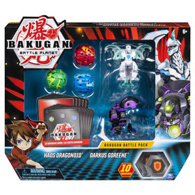 Bakugan, Battle Pack 5-Pack, Haos Dragonoid and Darkus Goreene, Collectible Cards and Figures