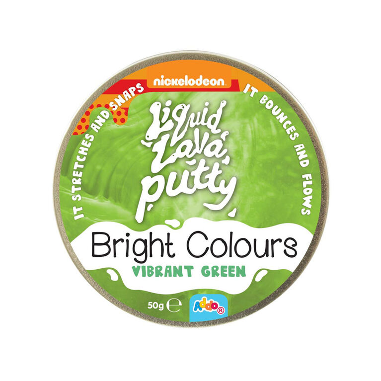 Nickelodeon Liquid Lava Putty Bright Colours Vibrant Green