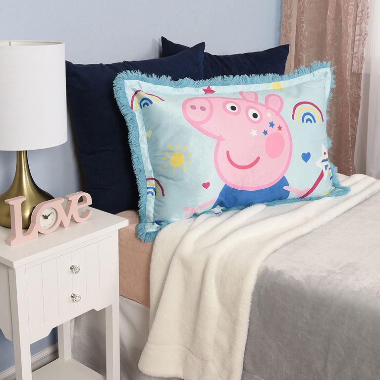 Gros oreiller en peluche de Peppa Pig