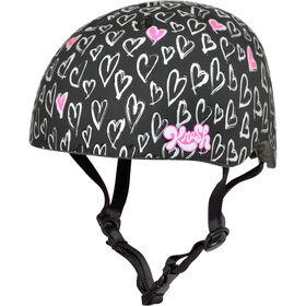 Krash - casque de vélo pour jeunes 8ans et plus Sketchy Heartz - rouge