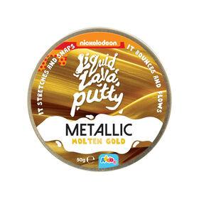 Nickelodeon Liquid Lava Putty Metallic Metals Molten Gold - R Exclusif