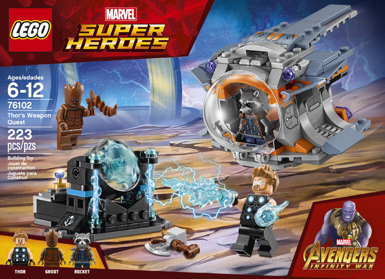 Lego Super Heroes Thor S Weapon Quest 76102 Toys R Us Canada