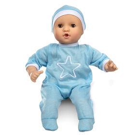 Melissa & Doug Mine to Love Jordan - Poupée bébé garçon 12 - barboteuse, bonnet, tétine