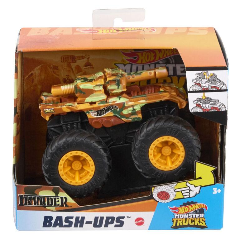Hot Wheels Monster Trucks 1:43 Bash Ups Mix #1 32 Degrees - Styles May Vary - English Edition