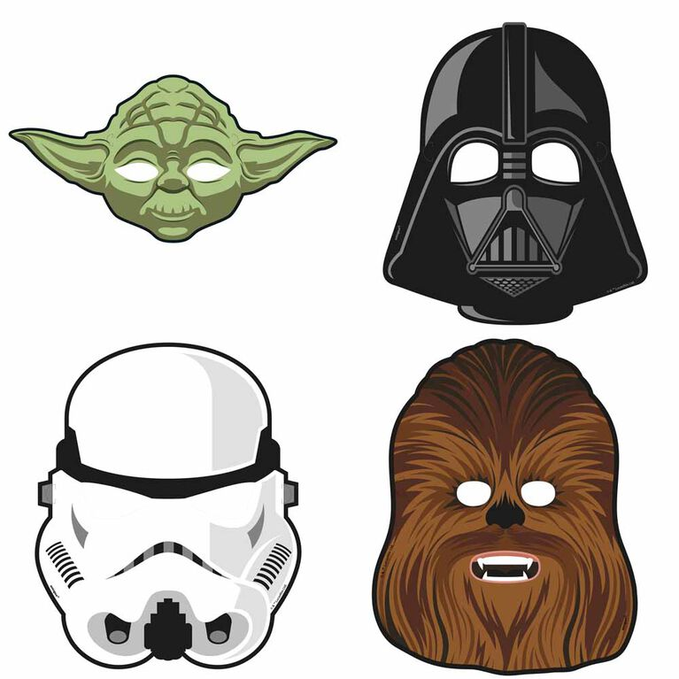 Star Wars Classic Party Masks, 8 pieces