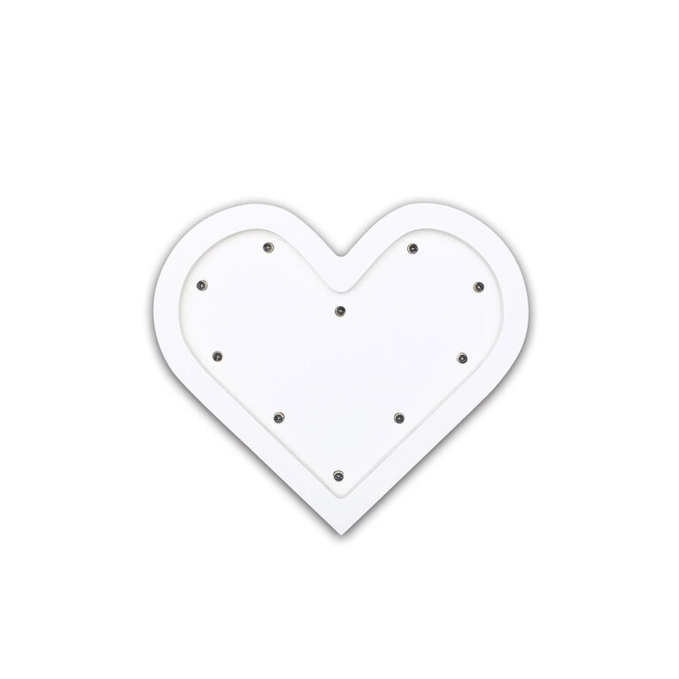 The Peanutshell Heart Marquee Wall Light