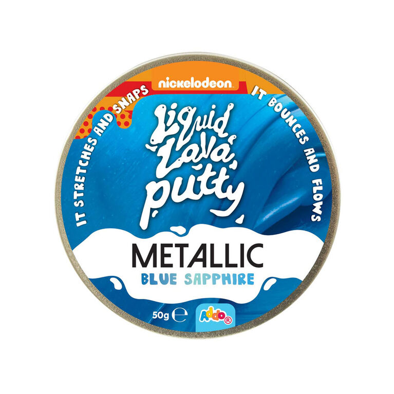 Nickelodeon - Pâte Liquid Lava Putty Metallic - Blue Sapphire (bleu) - Notre exclusivité - Édition anglaise