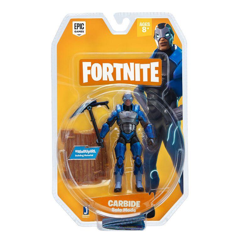 Fortnite Solo Figure Figure Carbide 1 Pack de figures.