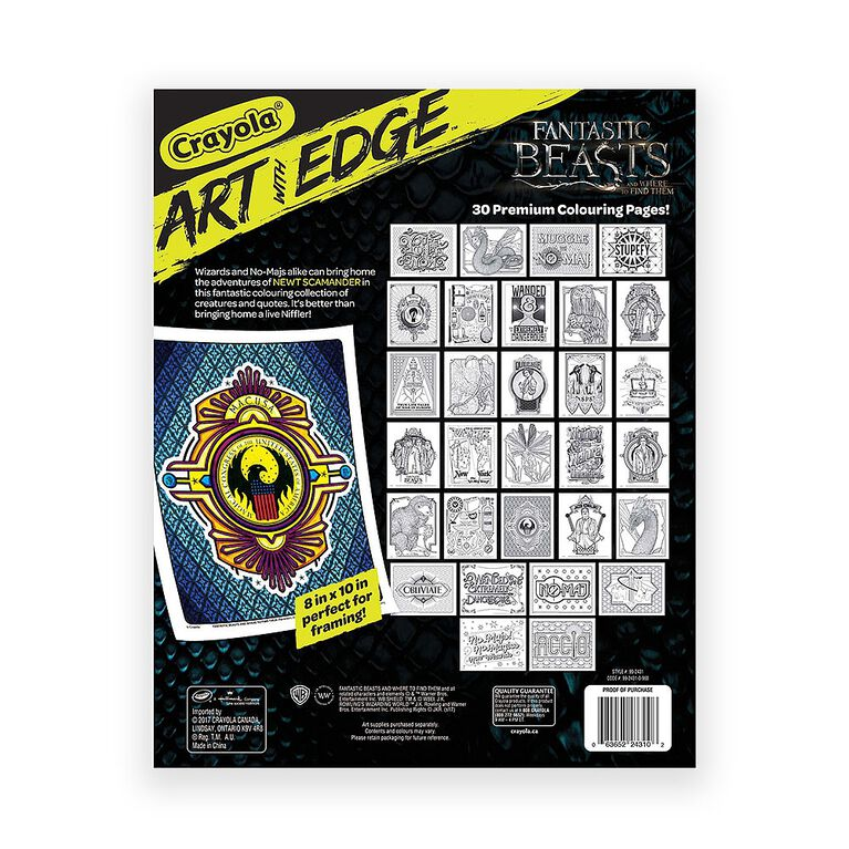 Crayola - Art With Edge Colouring Pages, Fantastic Beasts
