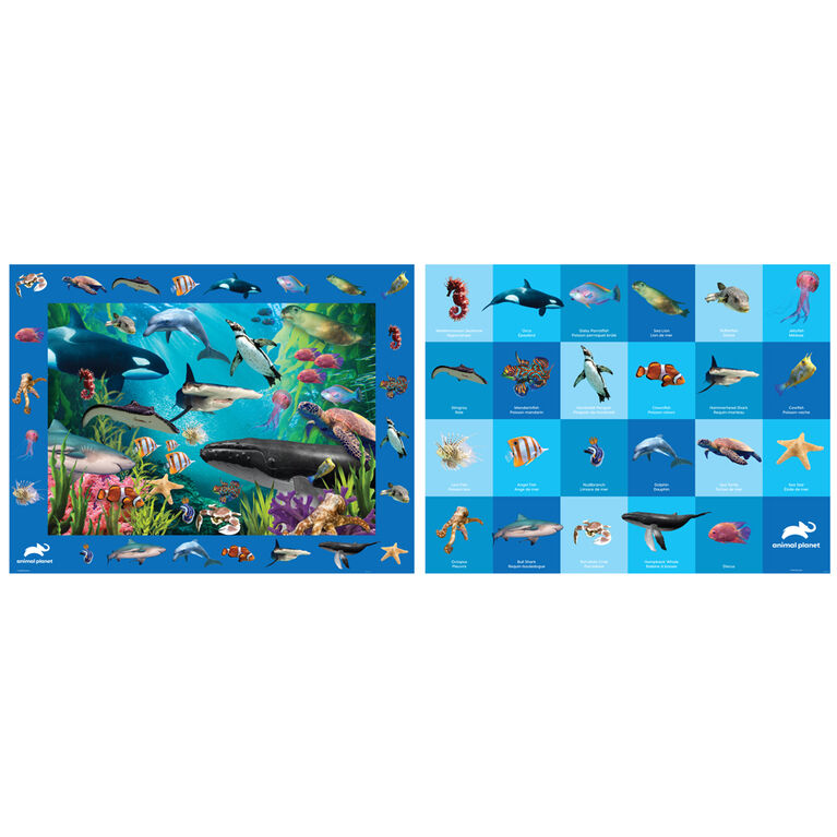 Build, Spot, & Learn Floor Puzzle - Sea Life