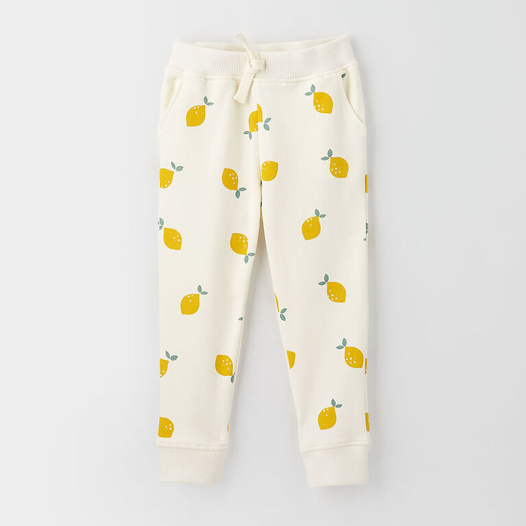 just chilling jogger, 2-3y - cream print
