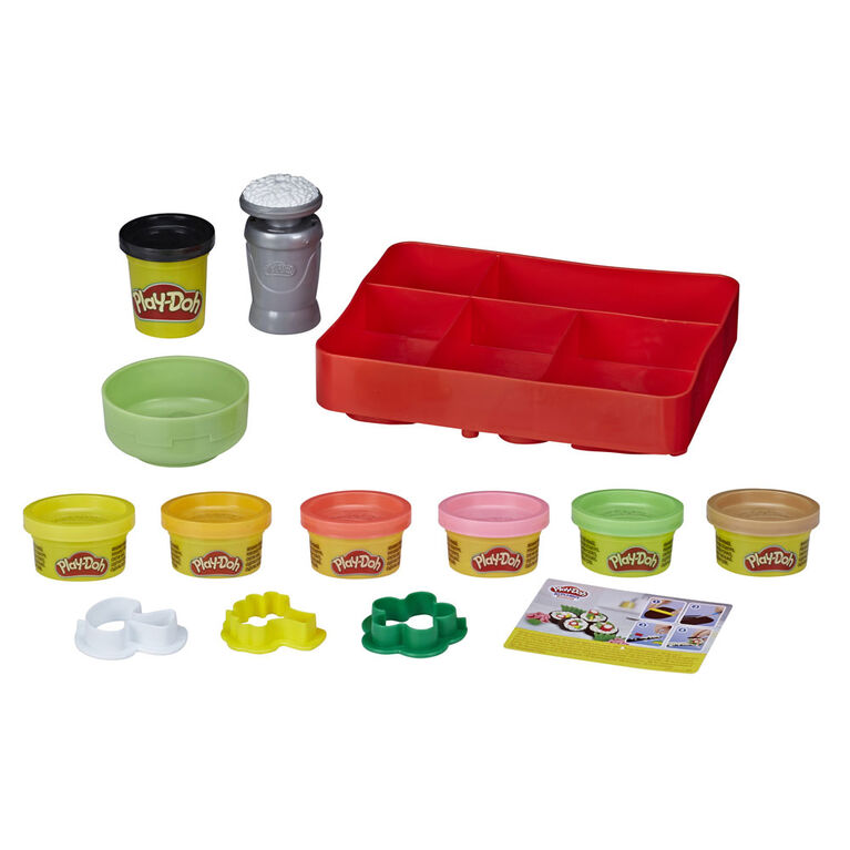 Play-Doh Kitchen Creations; Sushi Play Food Set with Bento Box and 9 Non-Toxic Play-Doh Cans