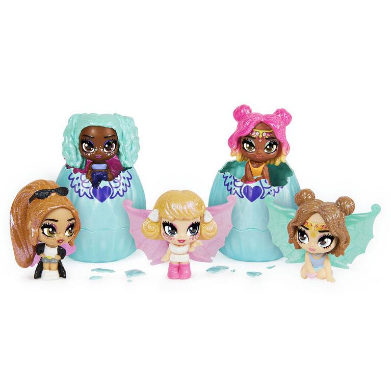 Coffret de 2 Hatchimals Mini Pixies, Glitter Angels, Figurines à collectionner de 3,8 cm avec des ailes à combiner (plusieurs modèles disponibles)