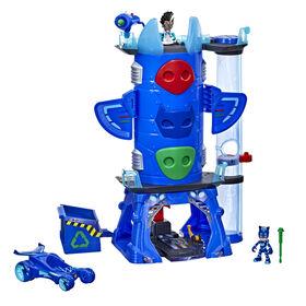 PJ Masks Deluxe Battle HQ Preschool Toy, Headquarters Playset - English Edition