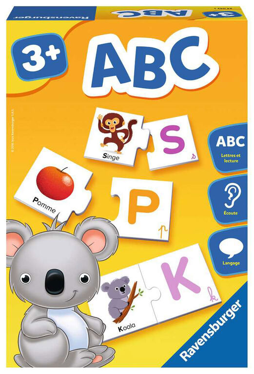 "Ravensburger! ""A,B,C"" Game - French Edition"