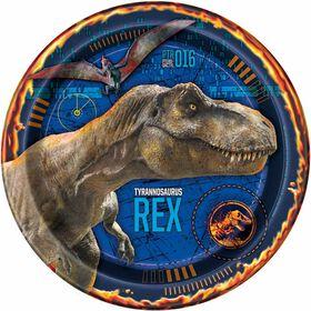 "Jurassic World 9"" Plates 8 pieces"