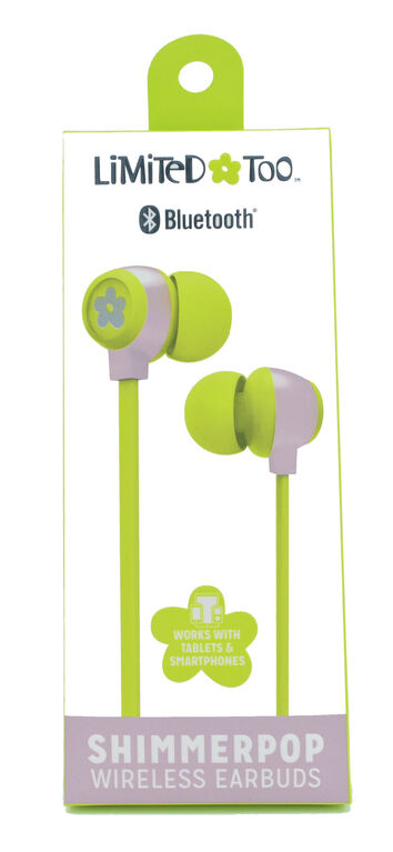 Limited Too Shimmerpop Bluetooth Earbuds - Green