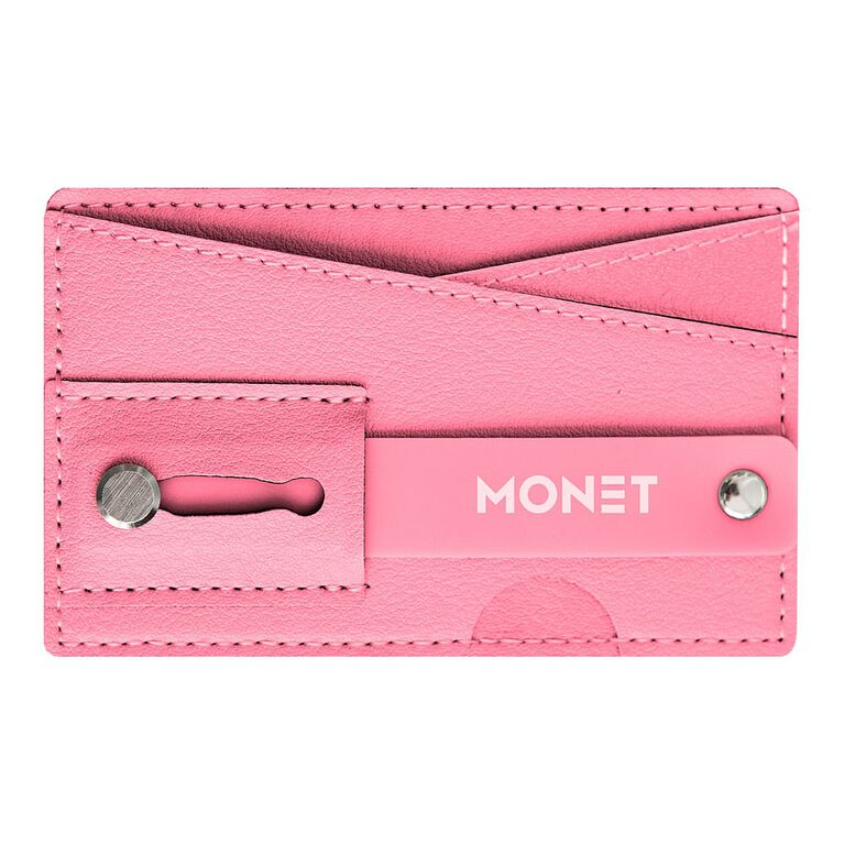 Monet Phone Wallet Grip Stand Pink