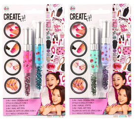 CREATE IT! Nail Art 3 In 1 Pen 2-Pieces Display